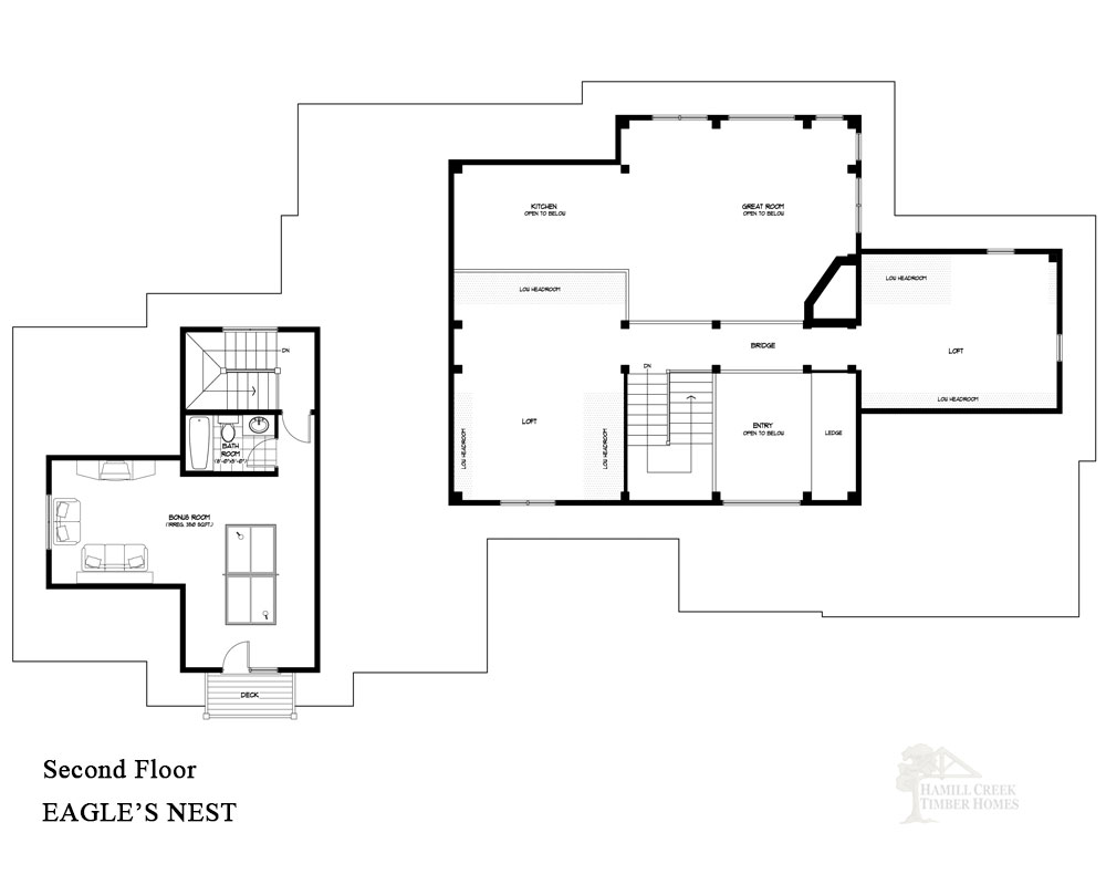 Hamill creek timber homes eagle 39 s nest home plan for Eagle nest home designs