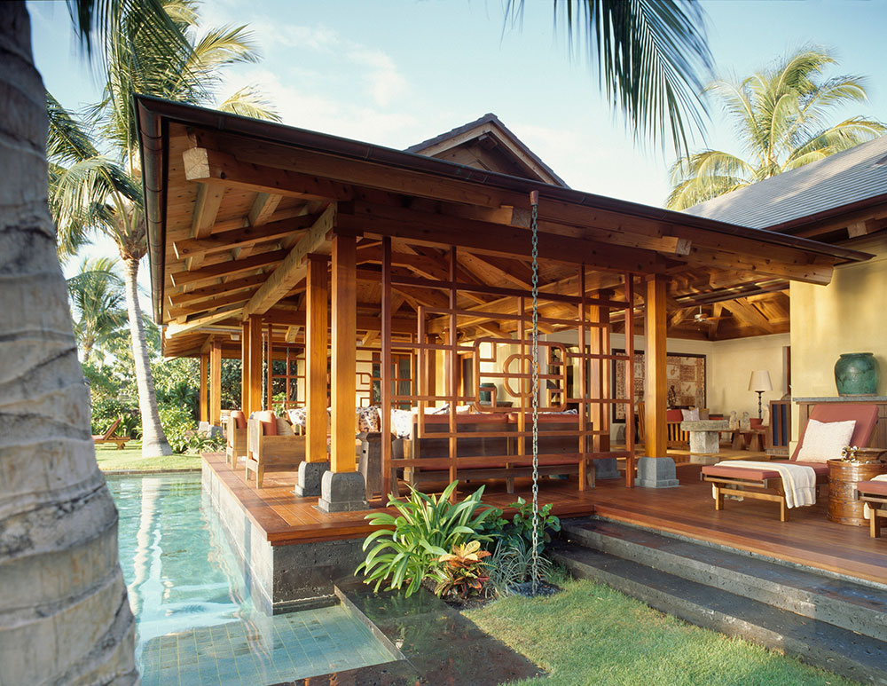Residential timber home hawaiian paradise timber home for Hawaiian style architecture