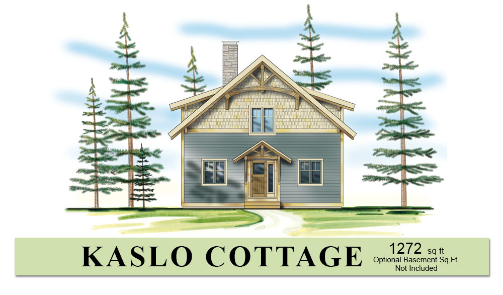 Small timber frame home plan kaslo cottage hamill creek for Small timber frame house designs